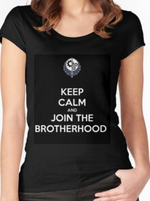 """Keep Calm and Join the Brotherhood"" -Black Women's Fitted Scoop T-Shirt"