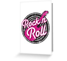 Rock n Roll with punk guitar distressed Greeting Card