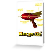 Sonic Ray Gun Greeting Card