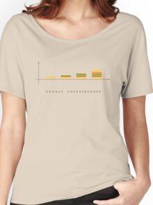 double cheeseburger bar chart Women's Relaxed Fit T-Shirt