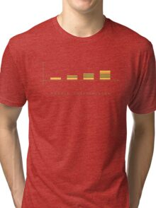 double cheeseburger bar chart Tri-blend T-Shirt