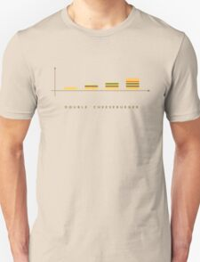double cheeseburger bar chart T-Shirt