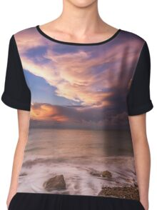 Sunset On The Beach  Chiffon Top