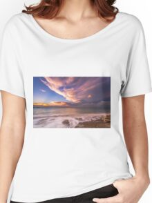Sunset On The Beach  Women's Relaxed Fit T-Shirt
