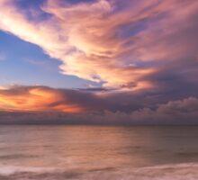 Sunset On The Beach  Sticker