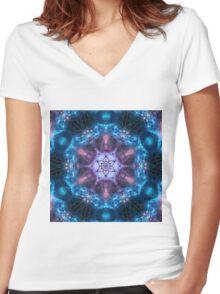 Calm Mandala Women's Fitted V-Neck T-Shirt