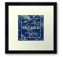 SAT NAM - Truth is my name Framed Print