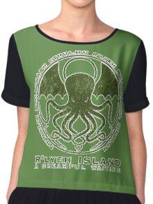 R'lyeh Island Chiffon Top