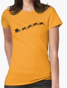 Christmas sleigh from flying dirt bikes Womens Fitted T-Shirt