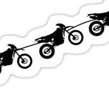 Christmas sleigh from flying dirt bikes Sticker