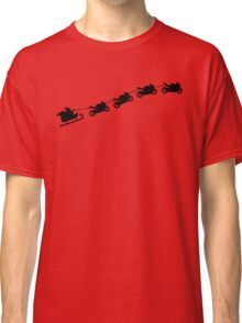 Christmas sleigh from flying motorcycles Classic T-Shirt