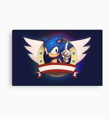 Sonic the Hedgehog Game Logo Canvas Print
