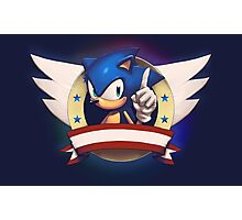 Sonic the Hedgehog Game Logo Photographic Print