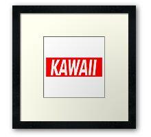 Kawaii Red Framed Print