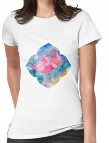 Lotus Flower 4 petals Womens Fitted T-Shirt