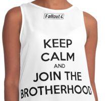 """Keep Calm and Join The Brotherhood""  Contrast Tank"