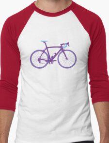 Bike Pop Art (Purple & Blue) Men's Baseball ¾ T-Shirt
