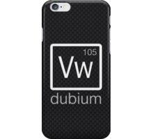 dubium (white) iPhone Case/Skin