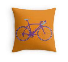 Bike Pop Art (Purple & Blue) Throw Pillow