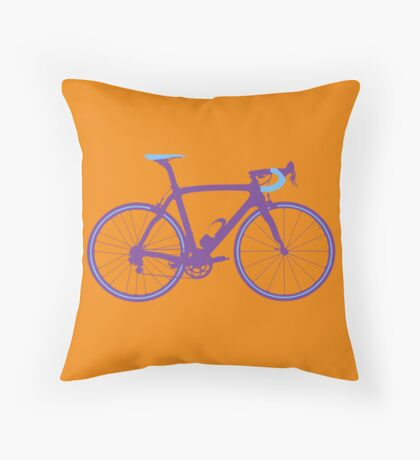 Bike Pop Art (Purple & Blue) Throw Pillow