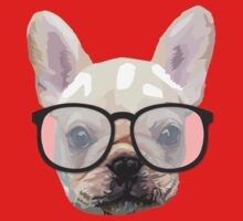Dog with glasses One Piece - Short Sleeve