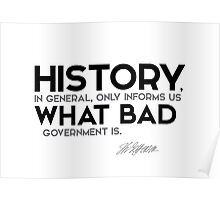 history: what bad government is - jefferson Poster