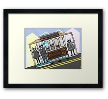 San Francisco Trolley Cats Framed Print