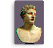 Vaporwave Roman Bust Canvas Print