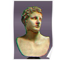 Vaporwave Roman Bust Poster