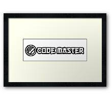 code master programming black design Framed Print