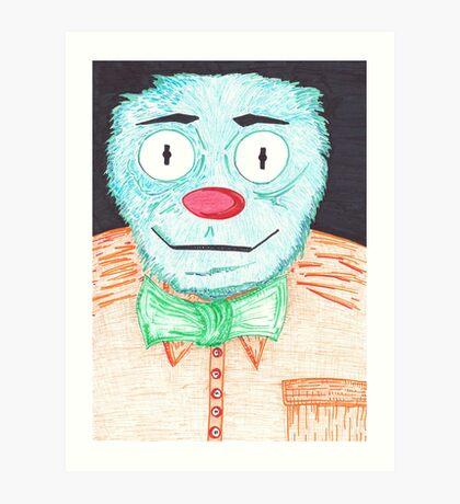 Blue Muppet Art Print
