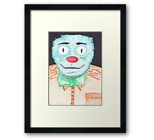 Blue Muppet Framed Print