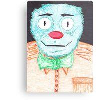 Blue Muppet Metal Print