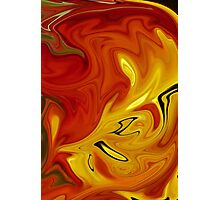 Abstract: Orange And Red Photographic Print