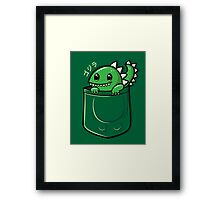 Monster in My Pocket Framed Print