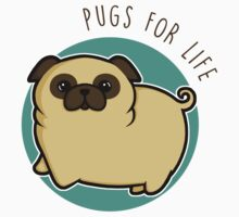 Pugs for life - fawn Kids Tee