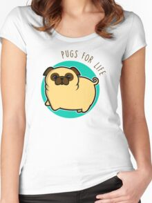 Pugs for life - fawn Women's Fitted Scoop T-Shirt