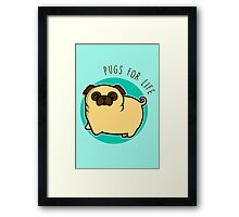 Pugs for life - fawn Framed Print