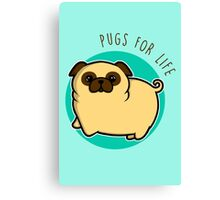 Pugs for life - fawn Canvas Print