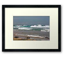 Raw Energy - Newcastle Beach Framed Print