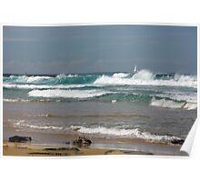 Raw Energy - Newcastle Beach Poster