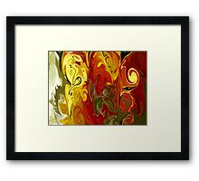 Abstract: Orange, Red, Yellow, Green Framed Print
