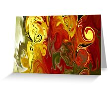 Abstract: Orange, Red, Yellow, Green Greeting Card