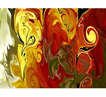 Abstract: Orange, Red, Yellow, Green Photographic Print