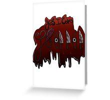 I Love Horror Greeting Card