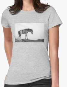 Skinny & Lonely Horse Womens Fitted T-Shirt