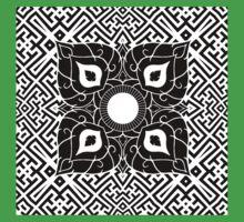 Sayagata 4 Warped Tiled Plus Thai Ornament 1 Baby Tee