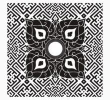 Sayagata 4 Warped Tiled Plus Thai Ornament 1 One Piece - Long Sleeve