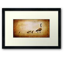 Catch Up Little Gosling Framed Print