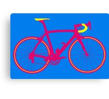 Bike Pop Art (Pink & Yellow) Canvas Print
